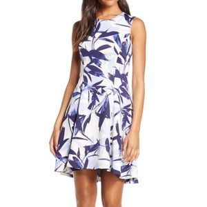 Vince Camuto Printed Fit and Flare Dress NWOT